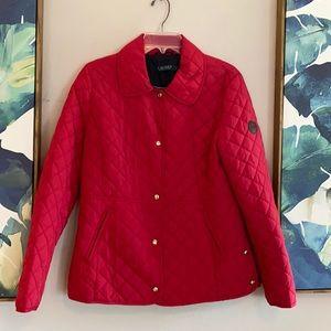 Ralph Lauren Red Quilted Barn Coat Jacket Medium